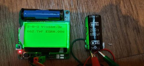 измеряем ёмкость электролитического конденсатора